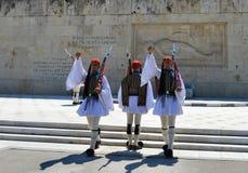 Het Parlement in Athene, Griekenland op 23 Juni, 2017 Stock Foto