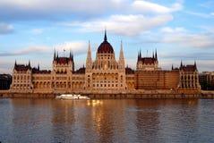 Het Parlement, Boedapest Stock Afbeelding