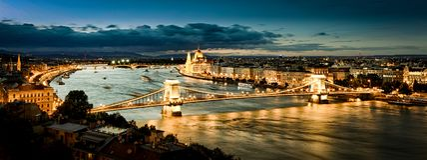 Het Parlement, Boedapest bij zonsondergang Royalty-vrije Stock Afbeeldingen