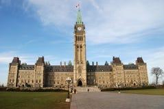 Het Parlement Buldings Ottawa, Ontario stock afbeelding