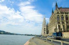 Het Parlement dat van Boedapest 1 bouwt Stock Afbeeldingen