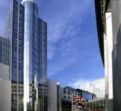 Het parlement dat van de EU Brussel België Europa bouwt Royalty-vrije Stock Foto's