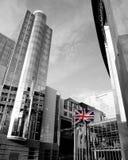 Het parlement dat van de EU Brussel België Europa bouwt Stock Afbeeldingen