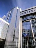 Het parlement dat van de EU Brussel België Europa bouwt Royalty-vrije Stock Fotografie