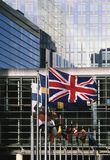 Het parlement dat van de EU Brussel België Europa bouwt Royalty-vrije Stock Afbeelding