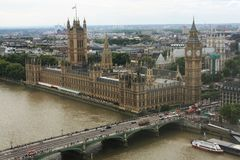 Het Parlement en de Big Ben stock foto