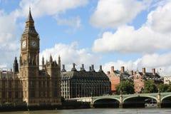 Het Parlement en de Big Ben van Londen stock foto's