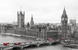 Het Parlement en de Big Ben van Londen Stock Foto