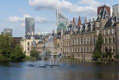 Het Parlement en Wolkenkrabbers Den Haag Stock Afbeeldingen