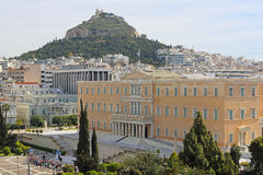 Het Parlement Griekenland stock foto's