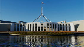 Het Parlement Huis in Canberra stock footage