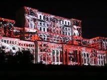 Het Parlement Huis - 3D videoprojectie stock videobeelden