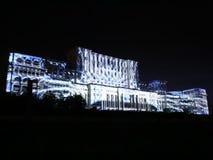 Het Parlement Huis - 3D videoprojectie stock video