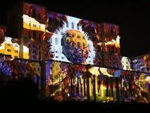 Het Parlement Huis - 3D videoprojectie stock footage
