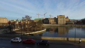 Het Parlement Huis, de Oude Stad in Stockholm stock video