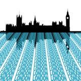 Het Parlement met de tekst van Londen Stock Foto