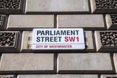 Het Parlement Straat in Londen Stock Afbeelding