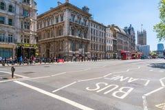 Het Parlement Straat, Londen het UK Royalty-vrije Stock Foto