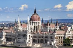 Het parlement van Boedapest Stock Fotografie