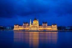 Het Parlement van Boedapest bij nacht Royalty-vrije Stock Afbeelding