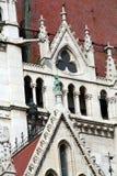 Het parlement van Boedapest - detail van architectuur stock foto