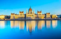 Het Parlement van Boedapest, Boedapest, Hongarije Royalty-vrije Stock Afbeeldingen
