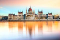 Het Parlement van Boedapest, Boedapest, Hongarije Royalty-vrije Stock Fotografie