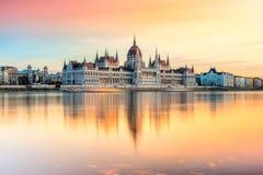 Het Parlement van Boedapest, Boedapest, Hongarije Royalty-vrije Stock Afbeelding