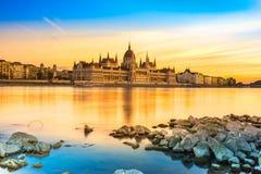 Het Parlement van Boedapest, Boedapest, Hongarije Stock Afbeeldingen