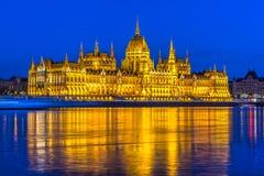Het Parlement van Boedapest, Boedapest, Hongarije Stock Fotografie