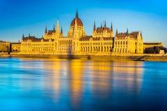 Het Parlement van Boedapest, Boedapest, Hongarije Royalty-vrije Stock Foto