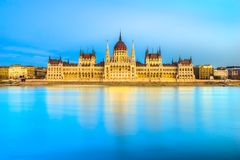 Het Parlement van Boedapest, Boedapest, Hongarije Royalty-vrije Stock Foto's