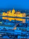 Het Parlement van Boedapest, Boedapest, Hongarije Stock Foto