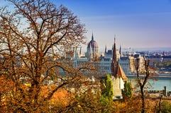 Het Parlement van Boedapest mening Royalty-vrije Stock Foto's
