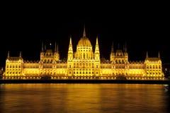 Het Parlement van Boedapest van de nacht Royalty-vrije Stock Foto