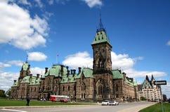 Het parlement van Canada Stock Foto