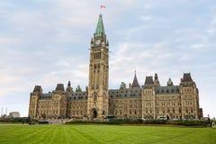 Het Parlement van Canada op het Parlement Heuvel Stock Fotografie