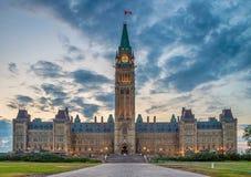 Het Parlement van Canada in Ottawa stock afbeeldingen