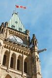Het Parlement van Canada in Ottawa Royalty-vrije Stock Afbeeldingen