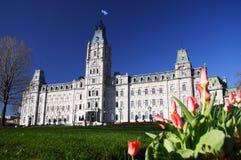 Het Parlement van de Stad van Quebec Stock Foto's
