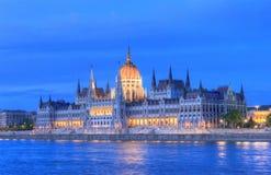 Het Parlement van Hongarije, Boedapest Stock Foto