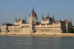 Het Parlement van Hongarije in Boedapest Stock Foto's