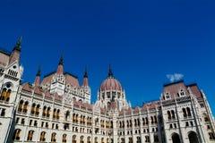 Het Parlement van Hongarije in Boedapest stock foto