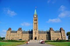 Het Parlement van Ottawa de Heuvelbouw Stock Afbeelding