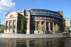 Het parlement van Stockholm Stock Afbeelding