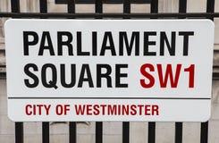 Het Parlement Vierkant in Londen Royalty-vrije Stock Afbeeldingen