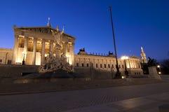 Het Parlement in Wenen Royalty-vrije Stock Foto's