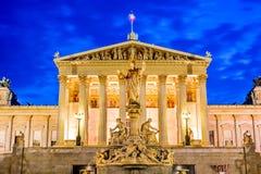 Het Parlement, Wenen, Oostenrijk stock afbeelding