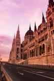 Het Parlement in zonsondergang Stock Foto