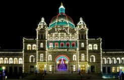 Het Parlementsgebouw in Victoria stock afbeelding